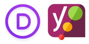 Divi and Yoast logos