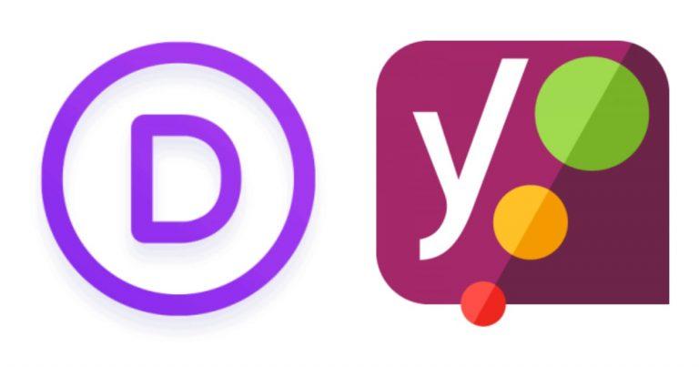 Divi and Yoast logos